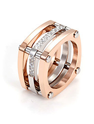 Casual Gold Plated Stacked Ring