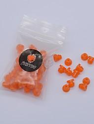 fttattoo® 500pcs silicone souple oeillets de tatouage mamelons orange pour mitrailleuse