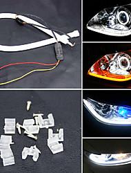 YOBO 6W 450-550LM  60mm Daytime Running light White/Yellow/Blue/Red Color High Power Car LED light lamp (DC12V/2pcs)