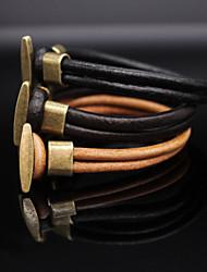 Men Bracelet European Style Leather Bracelet