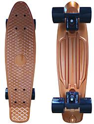 skate plástico anodizado (22 polegadas) bordo do cruzador com ouro rolamento ABEC-9
