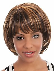 Secondary Color  Syntheic Wig   Extensions  Women Lady Bang Of Bob Wave Wigs
