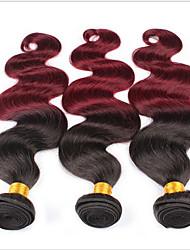 Menschenhaar spinnt Peruanisches Haar Große Wellen 3 Stück Haar webt
