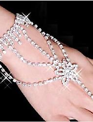 Femme Bracelets Bracelets Bagues bijoux de fantaisie Strass Plaqué argent Imitation Diamant Alliage Forme d'Etoile Bijoux Pour Soirée