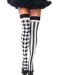 Women's Harlequin Thigh Highs