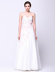 Formal Evening Dress - Ivory A-line Sweetheart Floor-length Tulle