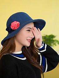 Women Luxury Noble Wool Floppy Hat LD00053