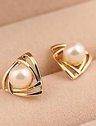 Boucle - en Alliage / Zircon Cubique / Imitation Perle - Mignon / Soirée - Boucle d'Oreille Elégante