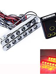 Car Auto Flashed 6 LED LED Daytime Running Light DRL Headlamp 2 Pcs
