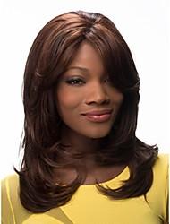 cor mulheres senhora extensões peruca syntheic misturado