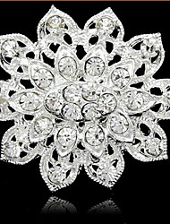 Silver Plated Full Rhinestone Brooch