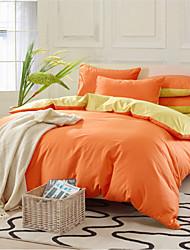 algodón yuxin®pure sarga de cuatro piezas actividad larry kit de impresión en color liso 1.5m-1.8m juego de cama cama / 2.0m