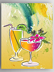 Stretched Canvas  Art Children Art Fruit Juice Print  One Panel
