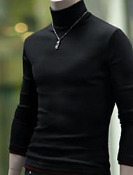 Informell Rund - Langarm - MEN - Pullover ( Baumwolle )