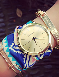 Bohemian Style Chiffon Watches Cloth Watch Geometric Patterns Geneva Watches Female Watches Gift Idea Cool Watches Unique Watches