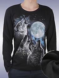 Men's Round T-Shirts , Cotton Long Sleeve Casual Fashion Winter zhengmao