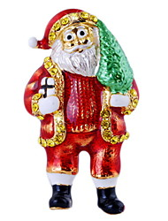 Santa Alloy Brooch Personalized Clothing