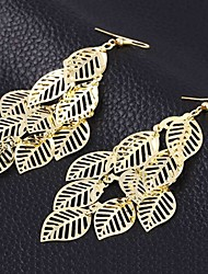 Earring Drop Earrings Jewelry Women Brass 2pcs Gold