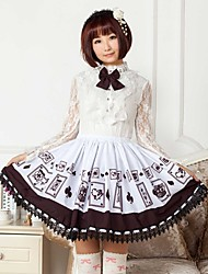Brown Poker Lolita  Princess  Skirt Lovely Cosplay
