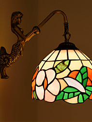 E27 220V 27*25CM 3-5㎡  European Contracted Rural Creative Wrought Iron Wall Lamp Glass Led Lights