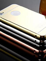 New Plating Mirror Back with Metal Frame Phone Case for iPhone 4/4S(Assorted Colors)