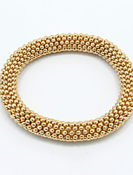 Alloy Golden Beads Chain Bangle Bracelet