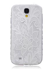 Pour Samsung Galaxy Coque Transparente / Motif Coque Coque Arrière Coque Fleur TPU SamsungS6 edge plus / S6 edge / S6 / S5 Mini / S5 / S4
