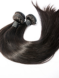 3pcs/lot 18inch Human Remy Hair Silk Straight Hair Weft Indian Virgin Hair Extensions 100% Human Hair Weaves