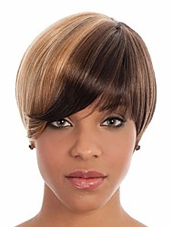 Secondary Color Syntheic Wig   Extensions  Women Lady Bang Of Wigs