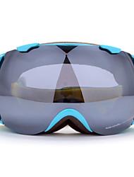 blue frame de prata óculos de esqui na neve à prova de vento sensor de Basto