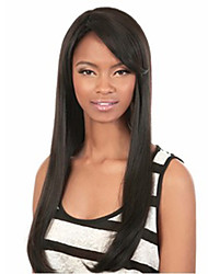 Critical Points in Black Fashion Long Straight Hair