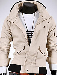 Men's Long Sleeve Jacket , Canvas / Lycra Casual Pure