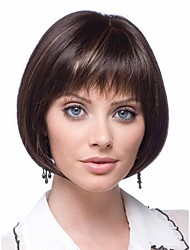 Most Popular  European Women Lady Secondary Color Syntheic Wigs