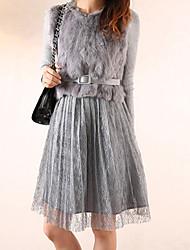 Vestiti Donna Pelliccia di volpe Cintura inclusa