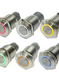 10pcs 16 mm senza pulsante di blocco sensore luci led rosso blu interruttore pulsante verde 12 v