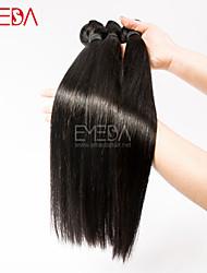 3pcs / lot virgens seda cabelo mongol retas extensões de cabelo humano natural preto 8 '' - 30 '' cabelo tece bundles