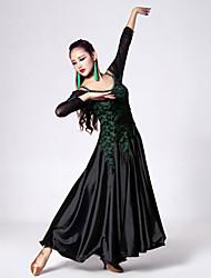 Robes(Fuchsia / Vert,Dentelle / Tulle / Viscose,Danse moderne)Danse moderne- pourFemme Cristaux/Stras / Dentelle Spectacle / Entraînement
