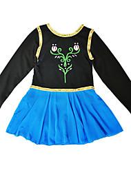 BHL Toddler Girls Frozen Anna Fairy Princess Ballet Gymnastic Dancewear Dresses for 3-12Y Leotard Long Sleeve Tutus