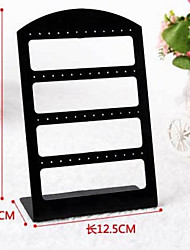 Black Acrylic Earrings Jewelry Displays 48 Holds