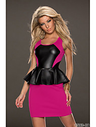 Girls Night Women's Color Block Pink / Green Dresses , Sexy / Casual / Party Mid Rise Sleeveless