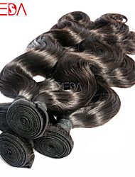"""3pcs/Lot 8""""-30"""" Unprocessed Raw Remy Mongolian Body Wave Human Hair Extensions Natural Black Hair Weaving"""