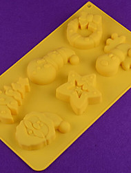 DIY Silicone Christmas Snowman  Cake Mold Chocolate Mold   Random Color