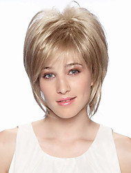Cool Pretty Short Straight Human Virgin Remy Hand Tied Top Female Capless Wigs