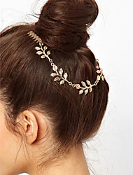 Women Golden Leaves Double Combs Hairpin Hair Accessories