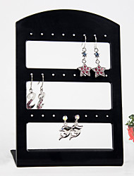 Black Acrylic Earrings Jewelry Displays 24 Holds