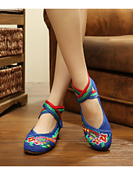 Women's Shoes Canvas Flat Heel Espadrilles Flats Casual Red / Navy