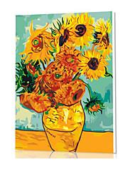 diy pintura a óleo quadro pintura digital divertimento família sozinha van Gogh girassóis x5060
