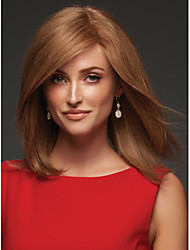 Fashion Brown Color Middle Wave Woman's Synthetic Wigs Hair