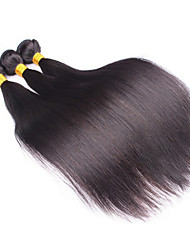 3Pcs/Lot  Unprocessed Brazilian Virgin Hair Straight 100% Human Hair Weft Brazilian Hair Weave Bundles