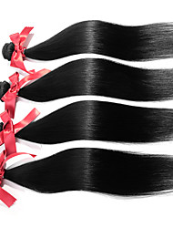 Peruvian Straight Wave Hair Extensions 1pcs #1B Unprocessed Human Hair Weaves Silky Straight Hair Bundles 50g/pcs